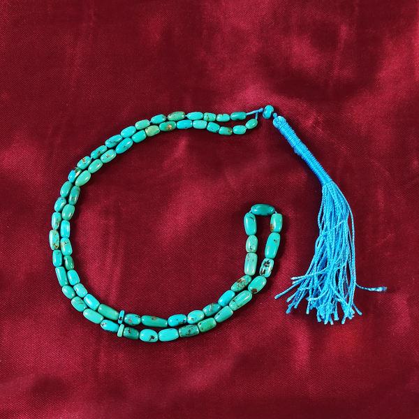 Nishapur Turquoise Prayer Beeds Model Celine