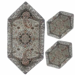 Set Of 3 Yazd Termeh Tablecloth Model Shiva