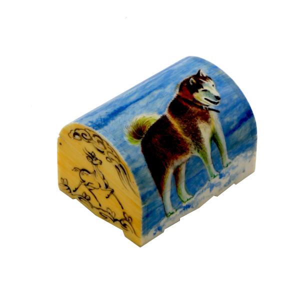 Bone Jewellery Box Iranian Handicraft Model Dog