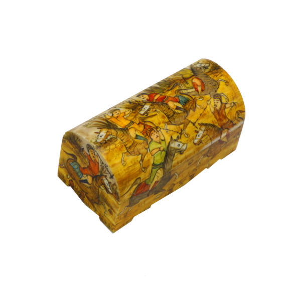Iranian Bone Jewellery Box Handicraft Model Chogan