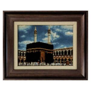 Hand Knotted Islamic Kaaba Wall Hanging Rug