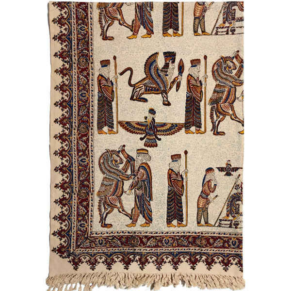 Kalamkari Tablecloth Atrian Model Takht-e Jamshid