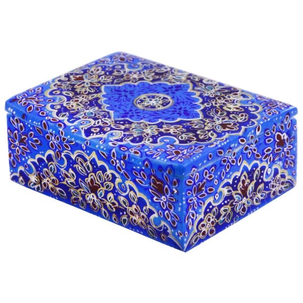 Persian Bone Jewelry box Handicraft Model Tazhib