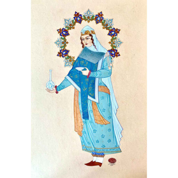 Hand Painted Miniature Art - Persian Lady