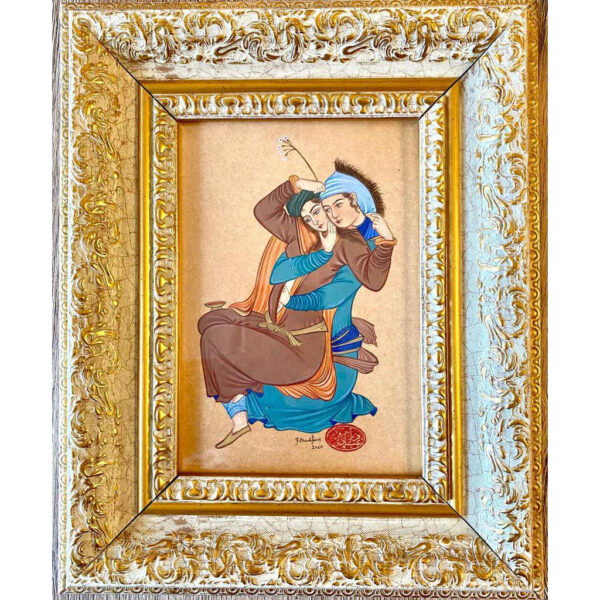 Persian Lover Hand Painted Miniature Art