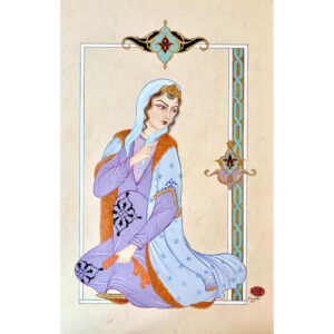 Hand Painted Persian Lady Miniature Art