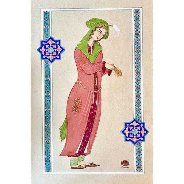 Persian Lady Hand Painted Miniature Art