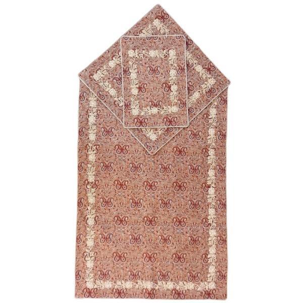 Sajadah: Janamaz Muslim Prayer Mat Model Termeh