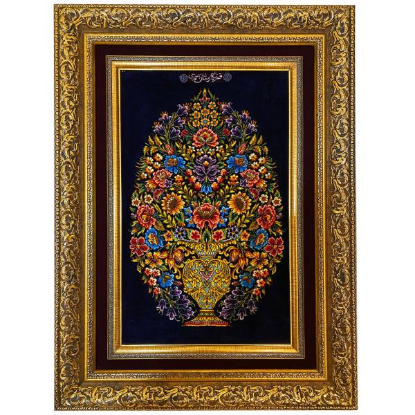 Handmade Iranian Tableau Rug Model Flower