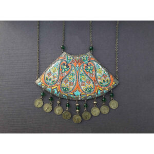 Persian Women's Necklace Model Termeh & Coin