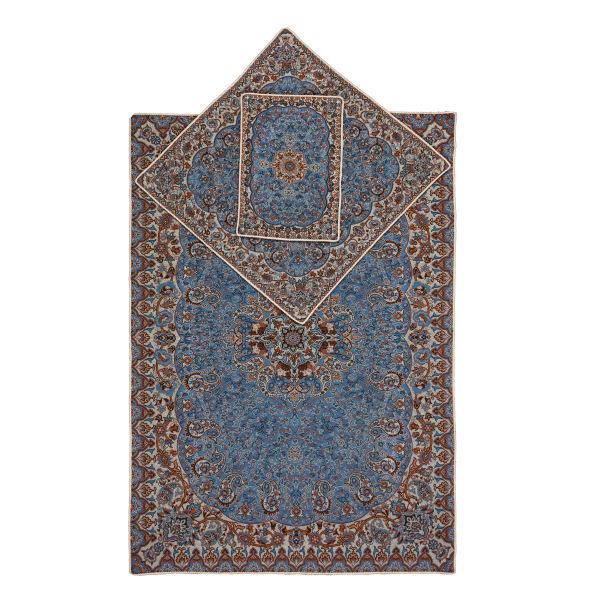 Sajadeh: Janamaz Muslim Prayer Mat Termeh - Blue