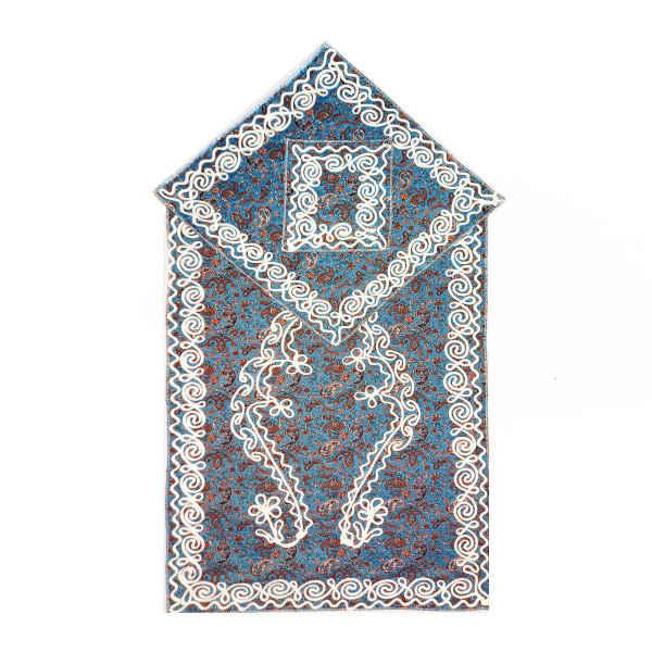 Sajadeh: Islamic Muslim Prayer Mat Blue Termeh