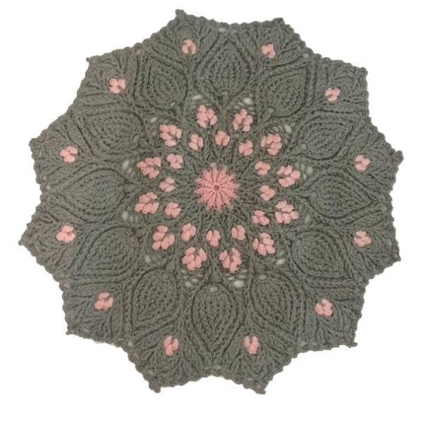 Round Crocheted Hand Knitting Rug Model Jina