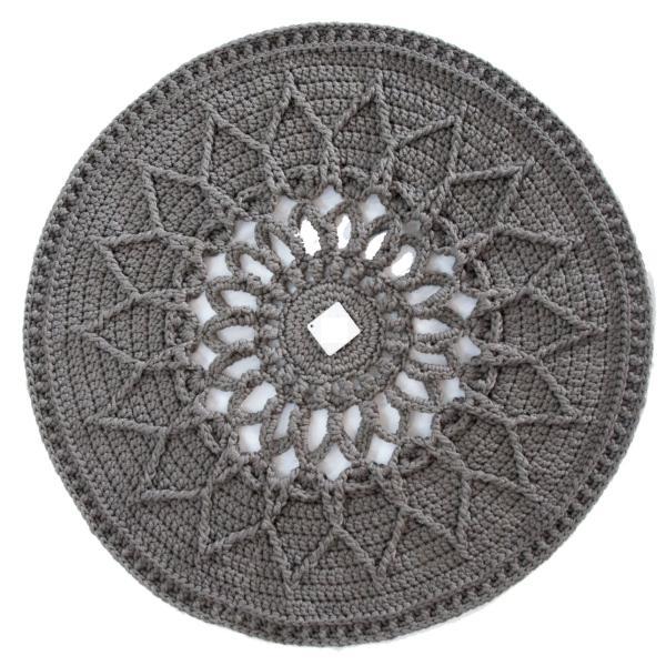 Round Hand Knitting Rug Model Sun
