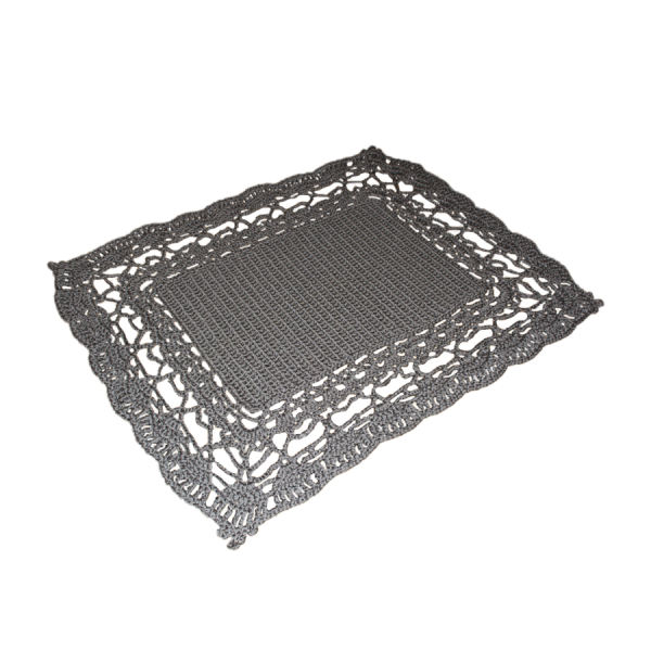 Persian Gray Hand Knitted Rug - Rectangle