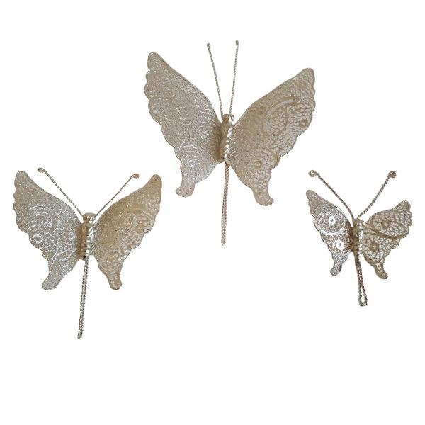 Set of Persian SilverMalilehkari Model Butterfly
