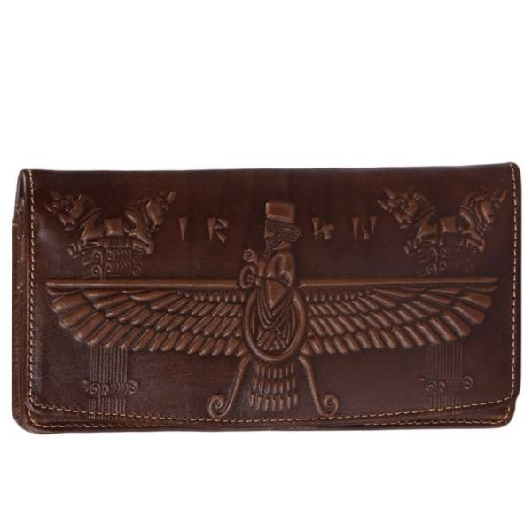 Genuine Leather Wallet Model Faravahar