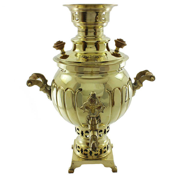 Persian Charcoal samovar model Mirror - 7 Liter