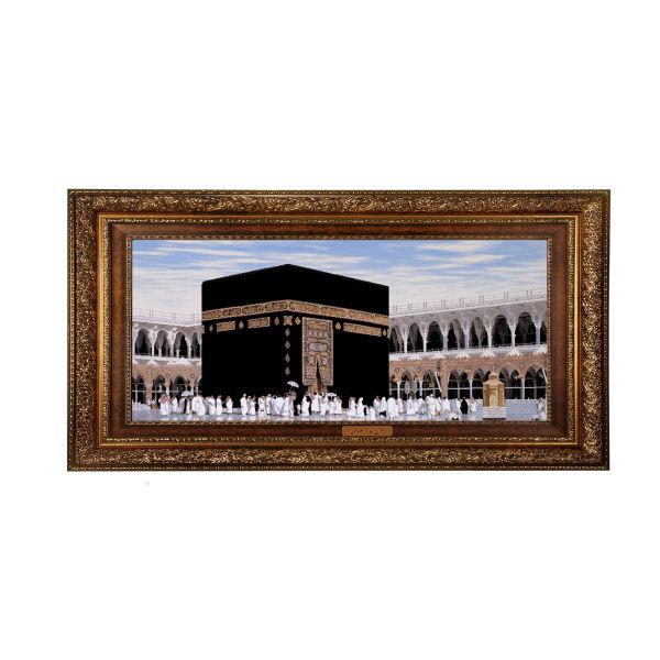 Iranian Kaaba Wall Hanging Tableau Rug
