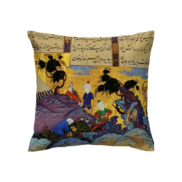 Shahnameh Persian miniature illustration Cushion Cover