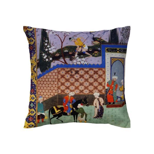 Shahnameh Persian Throw Pillow Case Cushion Cover
