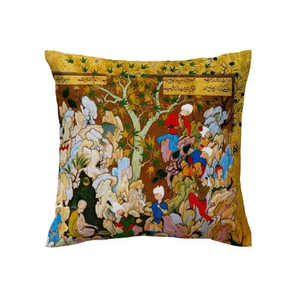 Persian Throw Pillow Case Cushion Cover - Shahnameh