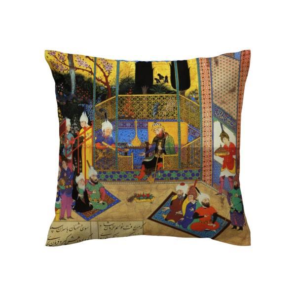 Persian miniature illustration Cushion Cover - Shahnameh