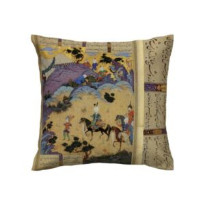 Shahnameh Persian miniature illustration Cushion Cover