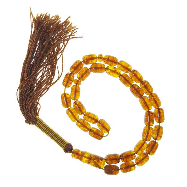 Amber Muslim Prayer Beads Tasbih