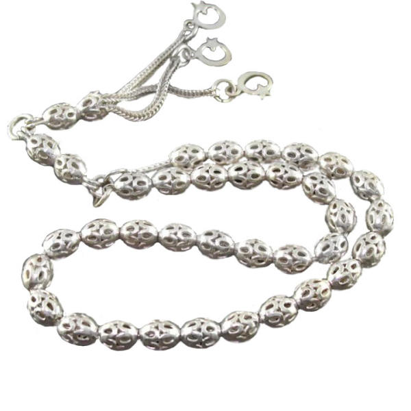 Misbaha Islamic Prayer Beads - Zahiradini - Silver