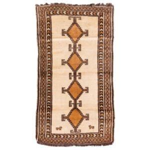 Handwoven Old tribal Persian Gabbeh Runner Rug