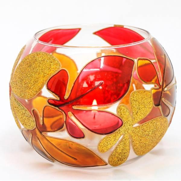 Crystal Candlesticks Holder Autumn design (3x)