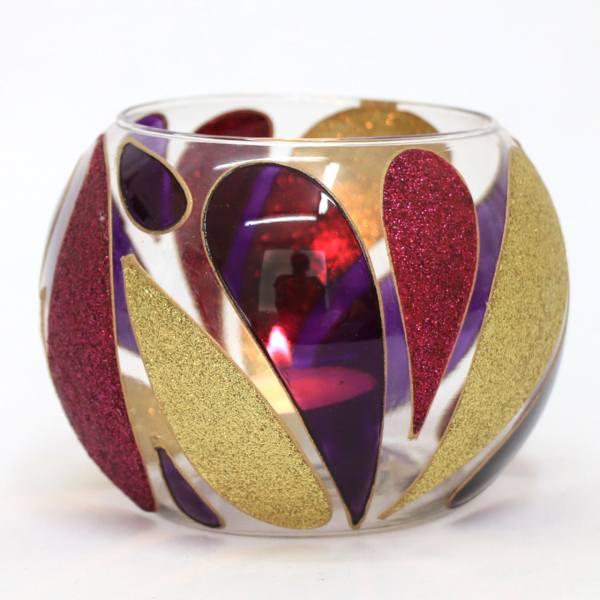 Crystal Candlesticks Holder Golden Tears (3x)