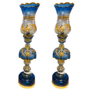Iranian Crystal Candlesticks Holder Model Nahal