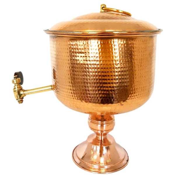1/5 Liter Handmade Hammered Copper Water Tank 02