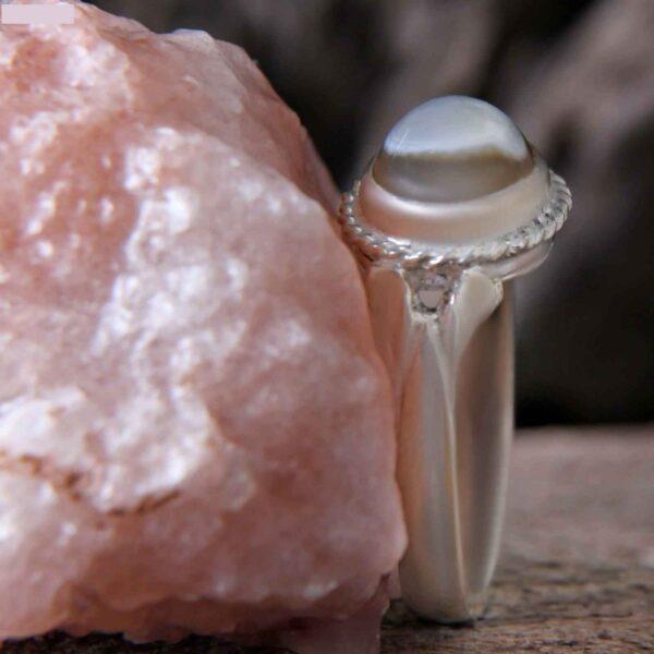 Islamic Aqeeq Men's Sterling Silver Ring Model Simple