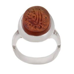 Islamic Yemeni agate Men's Silver Ring Model Ahmadi