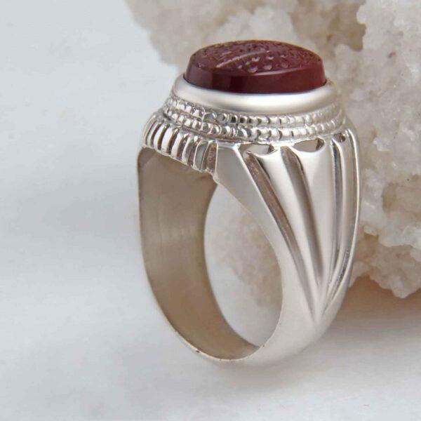 Islamic Yemeni agate Men's Silver Ring Model Miladi