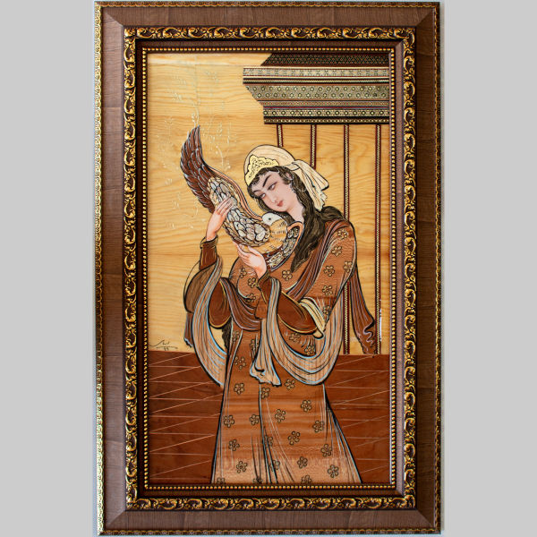 Lady of love Moaragh Kari Wooden Mosaic Art Work