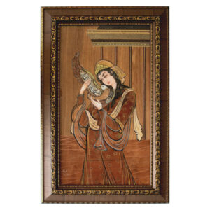Moaragh Kari Wooden Mosaic Art Work - Lady of love
