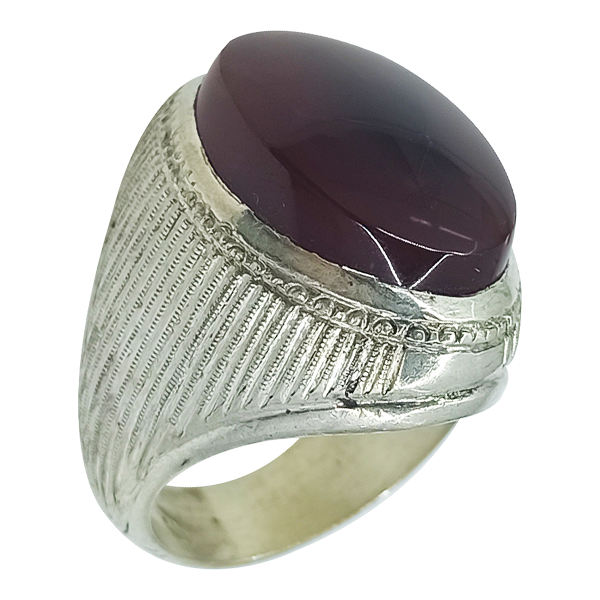 Muslim Akeek Men's Silver Ring Model Namaz