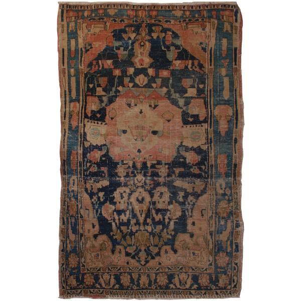 Old Persian Handwoven Ghashghaei Rug
