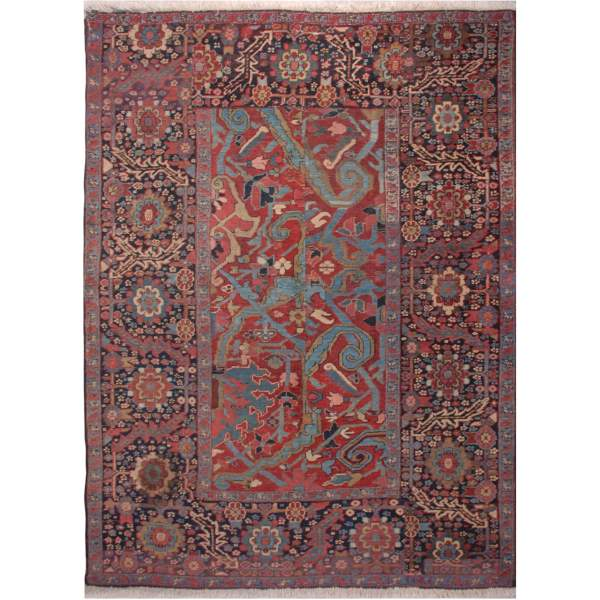 Second Hand Persian Navy blue Hand Knotted Rug