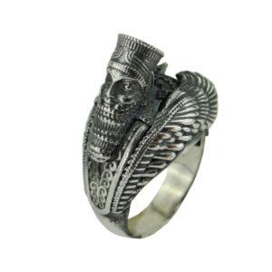 Vintage Achaemenes Persian Men's Silver Ring