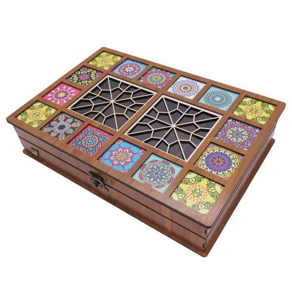 Wooden Gift & Tea Bag Box Model Deluxe