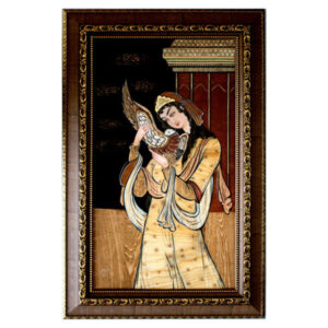 Wooden Mosaic Art Work Moaragh Kari - Lady of love