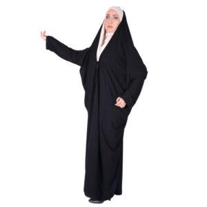 Arabic Women Namaz Black Tchador Model Shahre Hijab