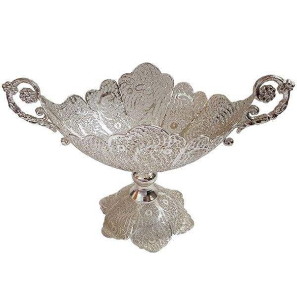 Iranian Filigree Malileh-Kari Silver Fruit Bowl Model Sun01
