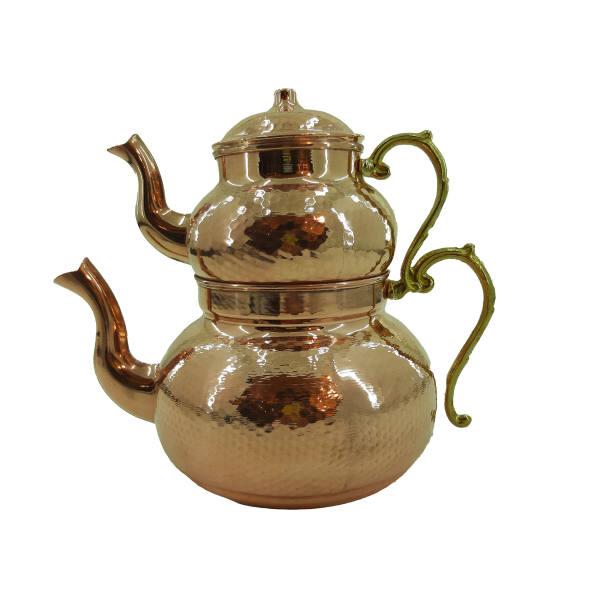 Iranian Hammered Copper Kettle & Teapots Model Jahan