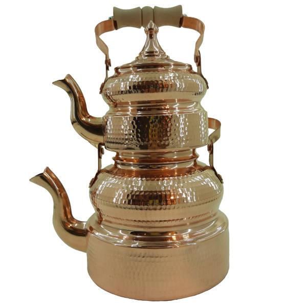 Iranian Hammered Copper Kettle & Teapots Model Qajar01